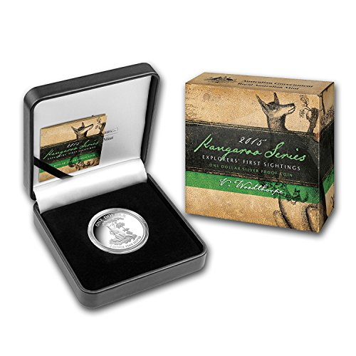 2015 AU Australia 1 oz Proof Silver Kangaroo (w/Box and COA) 1 OZ Brilliant - Kangaroo Proof