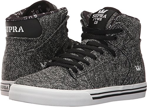 Supra Skytop S18091, Sneaker uomo Black French Terry Textile/White