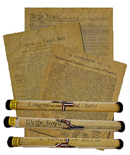 (Documents of Freedom Bundle. FULL SIZE Declaration of Independence, United States Constitution and the Bill of Rights.)