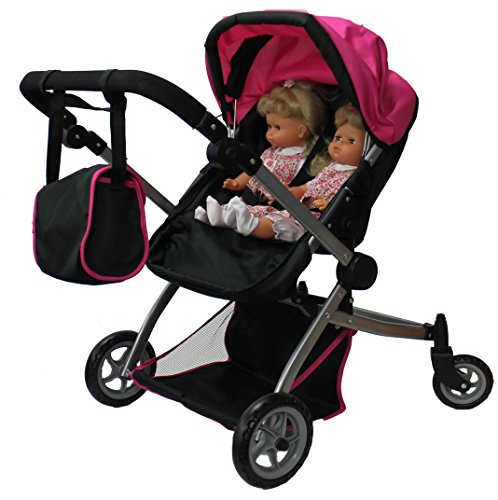 Babyboo Deluxe Twin Doll Pram/Stroller with Free Carriage (Multi Function View All Photos) - (Twin Doll Stroller)