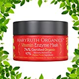 ORGANIC VITAMIN ENZYME MASK by MARYRUTH ORGANICS - Unscented Highest Purity 74% Organic Ingredients, Vitamins & Glycolic Acid gently remove dead skin cells to allow new skin tissue to emerge 4oz
