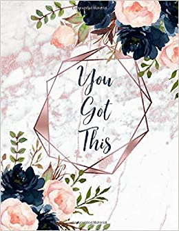 You Got This Inspirational Quote Notebook White Faux Marble Look