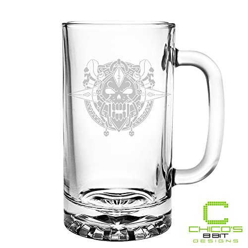 World of Warcraft - Death Knight Class - Etched Beer Mug