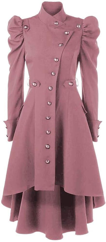 keepmore Damen Steampunk Gothic Mantel Retro Viktorianischen Jacke Vintage Cosplay Kost/üm Smoking Uniform Kleidung