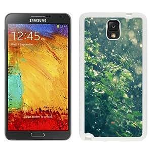 NEW Unique Custom Designed Samsung Galaxy Note 3 N900A N900V N900P N900T Phone Case With Summer Rain Water Drops Bokeh_White Phone Case