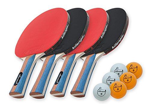 Killerspin JETSET 4 Pemium Table Tennis Paddle Set with 6 Balls 112-02