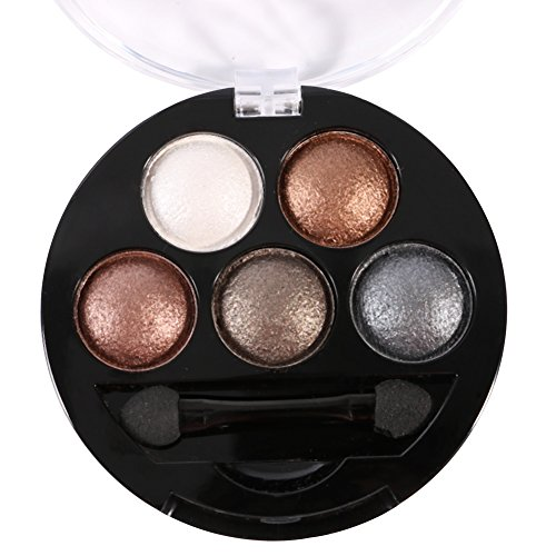 sungpunet-5colors-makeup-powder-set-shimmer-glitter-eyeshadow-palette