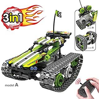 BIRANCO. Remote Control Car for Boys - RC Tracked Racer Building Blocks Set Kit, Fun, Educational, Learning, STEM Toys for Kids Age 8, 9, 12, 13 and 14 Year Old Boy Gift Ideas