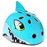 McDoo! Kids Bike Helmet with Cartoon Look, Multi-Sport Helmet fits Toddler & Children for Cycling Skateboard Scooter Climbing 3-6 years old (shark)