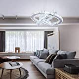 Dixun LED Modern Crystal Chandeliers 3 rings LED