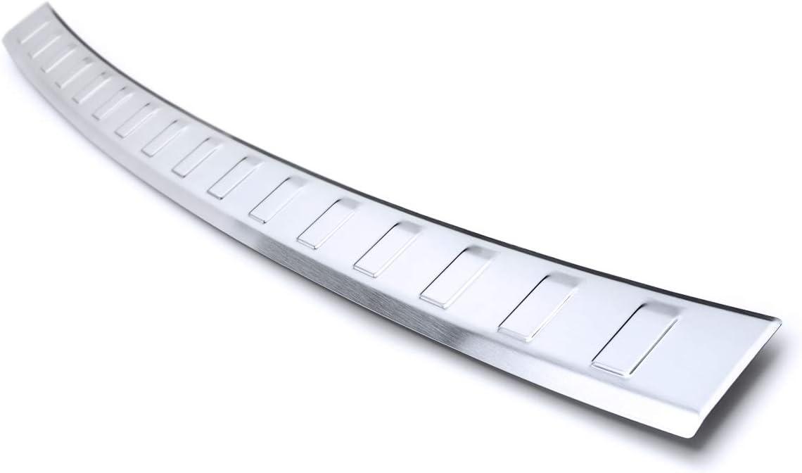 Farbe:Silber tuning-art BL956 Ladekantenschutz mit Abkantung Modellspezifisch