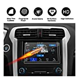 [Updated] 2013-2018 Ford Fusion sync2 sync3 8-inch Display Touch Screen Car Display Navigation Screen Protector, R RUIYA HD Clear Tempered Glass Protective Film
