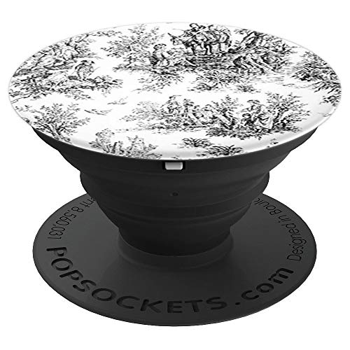 Classic Black White Toile - PopSockets Grip and Stand for Phones and Tablets