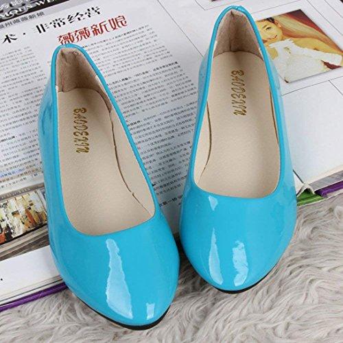 Verano Plataforma Mujer Bailarina Azul Zapato Plano Moda Chic Barato Vestir y Casual Primavera CqTgwFfw