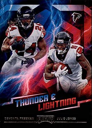Amazon.com  2018 Panini Playoff Thunder and Lightning  3 Devonta Freeman Julio  Jones NM-MT Atlanta Falcons Official NFL Football Card  Collectibles   Fine  ... 86a173f16