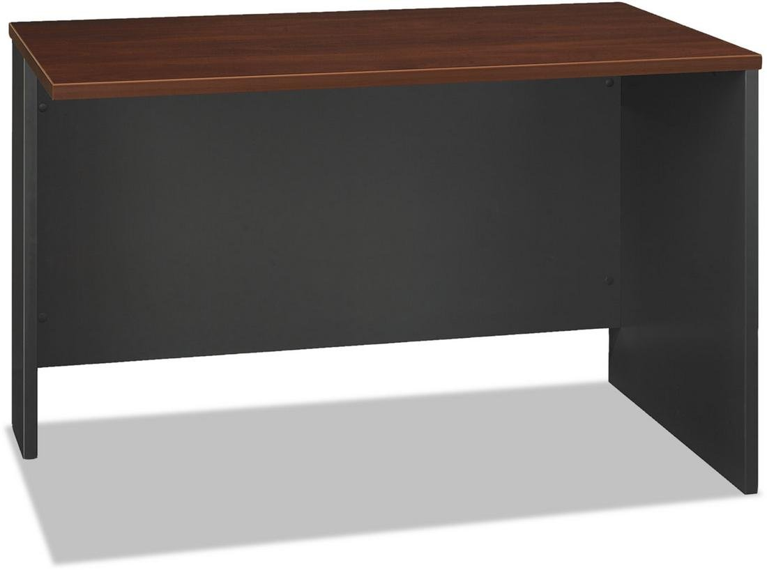Bush Business Furniture Components Return Bridge, 48''W, Hansen Cherry/Graphite Gray, Standard Delivery
