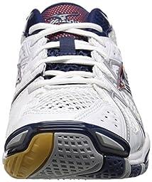 Mizuno Men\'s Wave Tornado 9 WH-NY Volleyball Shoe, White/Navy, 13 D US