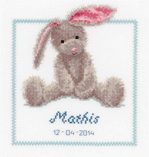 Vervaco Cute Bunny Counted Cross Stitch, Multi-Colour