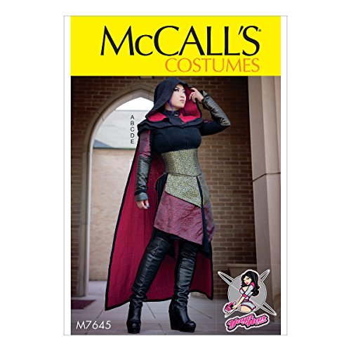 McCall's Patterns M7645A50 Assassin's Dress, Corset, Hood, and Cape Cosplay Costume Sewing Pattern for Women by Yaya Han, Sizes 6-14 ()