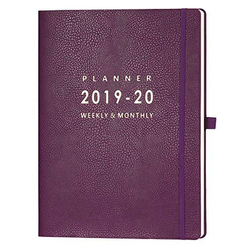 2019-2020 Planner with Pen Holder - Weekly & Monthly Planner with Calendar Stickers, July 2019 - June 2020, Inner Pocket with 24 Notes Pages, A4 Premium Thicker Paper, 8.5