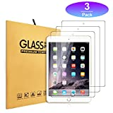 iPad 9.7'' Screen Protector,Zacker [3-Pack] HD Clear Premium 9H Hardness Crystal Anti-Glare Fingerprint Tempered Glass for iPad Air / Air2 / Pro