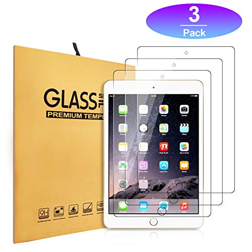 iPad 9.7 Screen Protector,Zacker [3-Pack] HD Clear Premium 9H Hardness Crystal Anti-Glare Fingerprint Tempered Glass for iPad Air / Air2 / Pro
