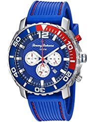 Tommy Bahama Mens Quartz Stainless Steel and Rubber Casual Watch, Color:Blue (Model: TB00007-01)