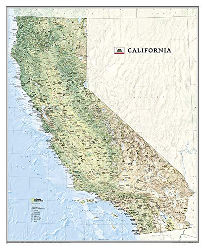 - National Geographic: California Wall Map (33.5 x 40.5 inches) (National Geographic Reference Map)