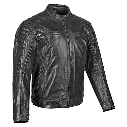 Price comparison product image STREET & STEEL Westwood Leather Motorcycle Jacket - XL,  Black