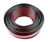 Audiopipe 12 GA Gauge Red Black Stranded 2 Conductor Speaker Wire For Car, Home Audio, 100 feet
