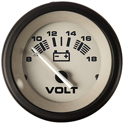 Sierra International 61548P Driftwood 8 to 18 Vdc Dial Range Scratch Resistant System Voltmeter, 2