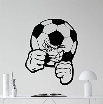 pegatinas de pared Balón de fútbol Etiqueta de balón de fútbol ...