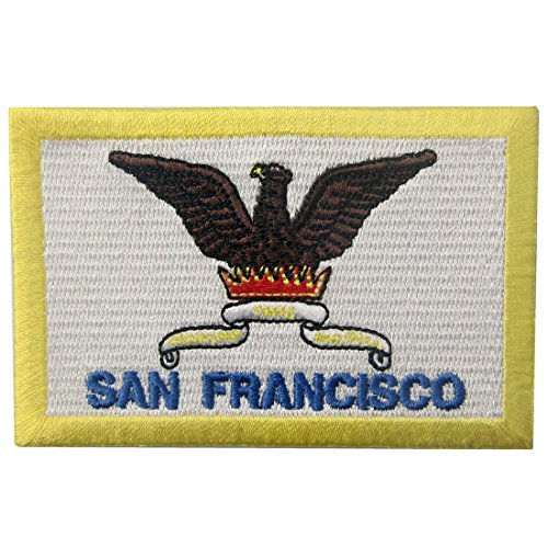 San Francisco Flag Patch Embroidered Applique California CA Iron On Sew On (San Francisco Costumes)