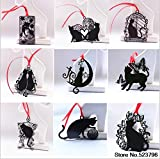 Since Metal Bookmark Black Cats Series with Mini envelopes Fashionable and Cute Silhouette Book Mark Set of 9