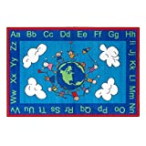 world carpet - Flagship Carpets CE189-22W Happy World Rug, Promotes Acceptance with Cheerful Friends of Diverse Backgrounds, 4' x 6', 48