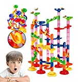WTOR Marble Run Coaster Railway Toy Marble Adventure New Challenge Game 105 Pieces Marbles Race Game Learning Railway Construction Maze Toy Game Construction Learning Toys for Kids Children Students,DIY Intellectual Building Toy for Educational and Creativ
