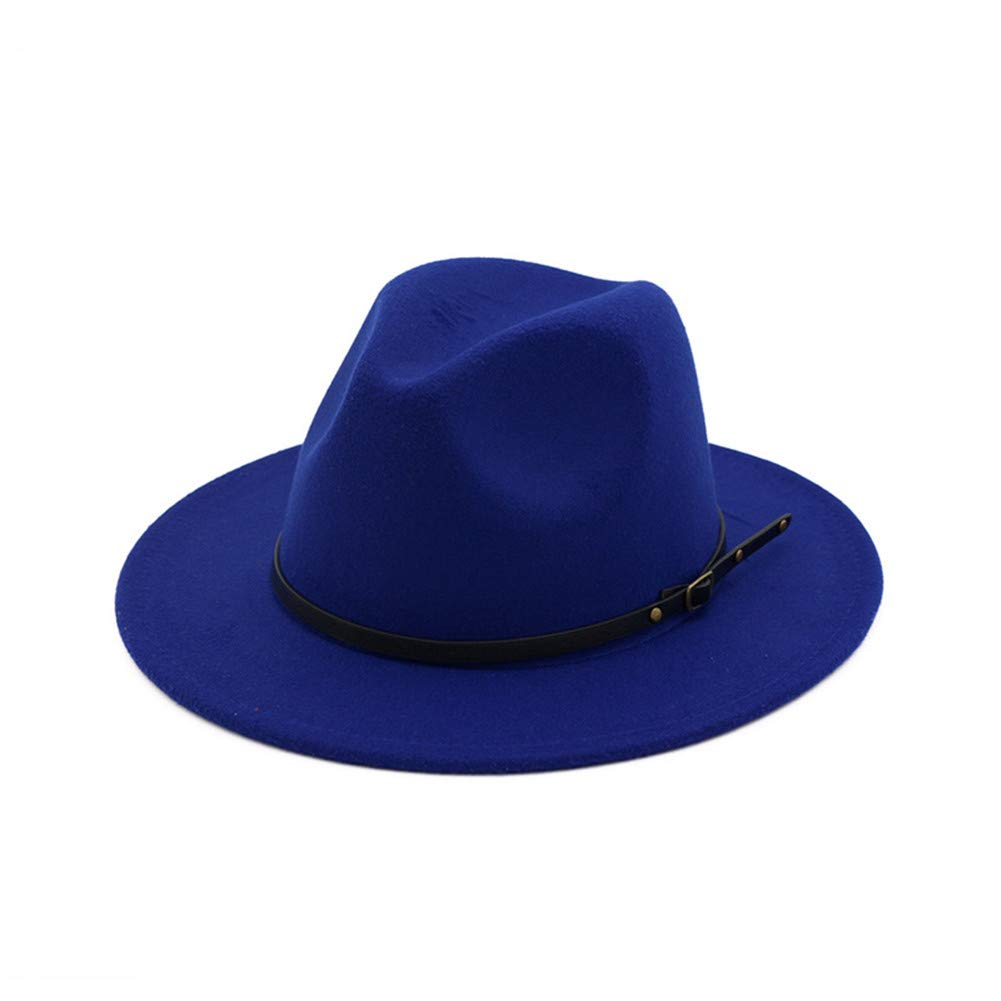 b5f0fa82b Vim Tree Womens Classic Wide Brim Fedora Hat with Belt Buckle Felt ...