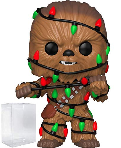 Funko Pop! Star Wars: Holiday - Chewbacca with Christmas Lights Vinyl Figure (Bundled with Pop Box Protector Case)