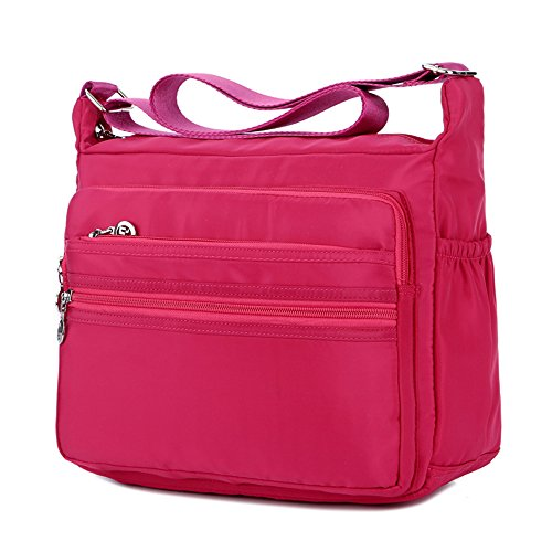 Handbags Casual Crossbody Rose Multi Bags Shoulder Waterproof Women's Pocket Nylon 1ZqawnZI