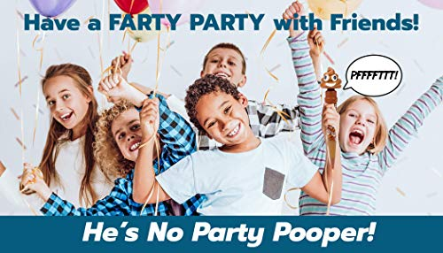 Farting Poop Emoji Pen – Makes 7 Funny Fart Sounds – Cute Smiling Poop Face Emoticon Ballpoint Pens – Talking Joke Toy…