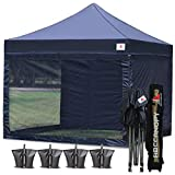 ABCCANOPY 10x10 Pop up Canopy Tent Commercial Tents with White Mesh Walls Camping Screen & Mesh House Bonus Rolly Carry Bag and 4X Weight Bag, 30+ Mutil Colors