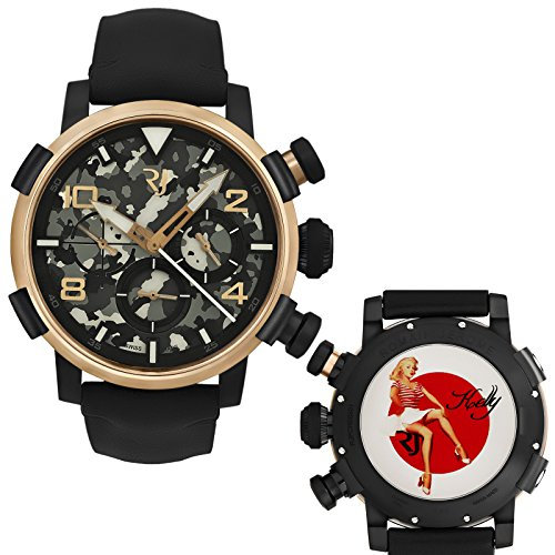 Romain-Jerome-Pinup-DNA-Gold-WWII-Kelly-Red-Stripes-Chrono-Auto-RJPCH00301
