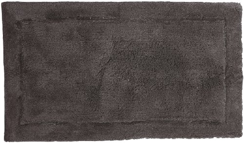 Welspun HygroSoft Fast Drying and Absorbent Bath Rug, 27 by 45-Inch, Pewter