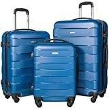 Merax MT Imagine TSA Luggage Set 3 Piece Spinner Suitcase (Blue)