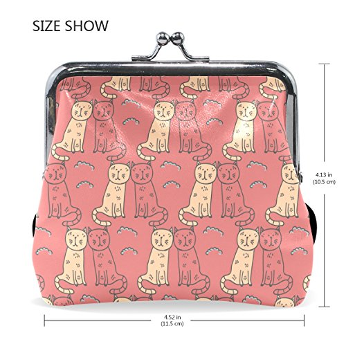 Small Cats Cosmetic Bags Exquisite Clasp MaMacool Purse Cute Coin Women Wallet Interlayer PC8xg08q