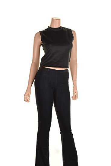 1fbb0f1c42fb7 Image Unavailable. Image not available for. Color  Kiind Of Sleeveless Mock  Turtleneck Top - Black
