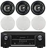 Denon 5.2 Channel 700-Watt Full 4K Ultra HD Bluetooth AV Home Theater Receiver + Polk High-Performance Natural Surround Sound in-ceiling Speaker System (Set Of 6)