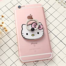 ZOEAST(TM) Pink Bowknot Cat Kitty Universal 360° Rotating Phone Buckle Tablet Finger Grip Ring Stand Holder Kickstand Phones Tablets iPhone 4 4S 5 5S 6 6S SE 7 Plus Samsung iPad iPod (Pink Kitty)