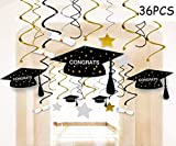 Toys : Graduation Party Supplies 2019 Decorations Hanging Swirl- Grad Star/Mortarboards/Diplomas Ceiling Foil Ornaments (36 PCS)