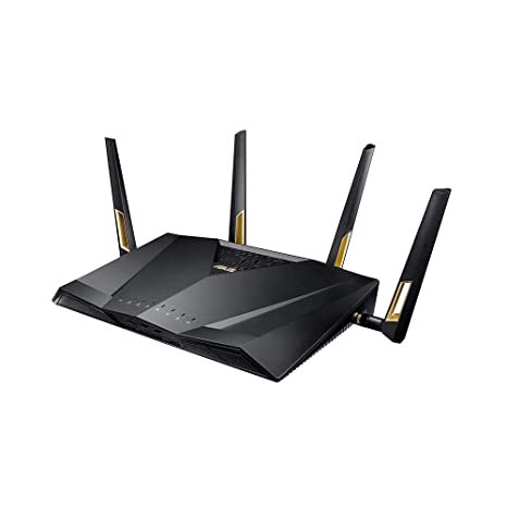ASUS Quad-Core, Next-Gen WiFi 6, Wireless 802.11ax Dual Band Wi-Fi Adaptive QoS AX6000 Router (RT-AX88U) Components at amazon